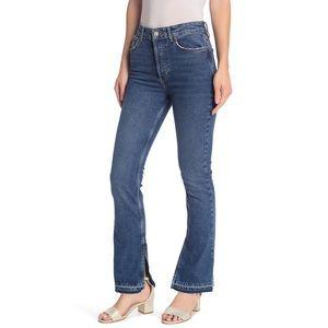 Free People 'Emmy' High-Waist Split Hem Jeans